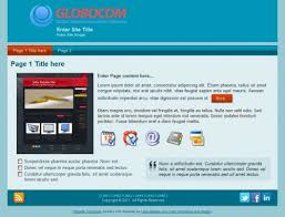 blue simple clean free templates set website design free