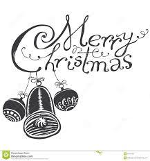 merry christmas black u0026 white stock photography image 7414192