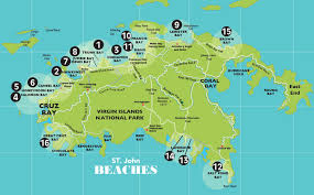 road map of st usvi beaches on st articles beaches maps st