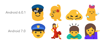 champagne iphone emoji android 7 0 nougat emoji changelog