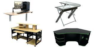 Z Line Belaire Glass L Shaped Computer Desk U Shaped Gaming Desk Types Of Gaming Desks Z Line Belaire Glass L