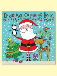 xsqcbk3 christmas square colouring book santa scene christmas