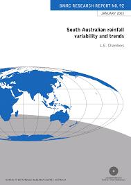bureau ude g technique south australian rainfall variability and pdf available