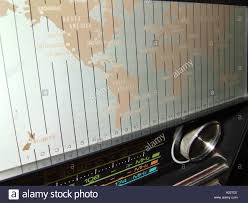 World Map Time Zone by Map Showing World Time Zones On A Shortwave Radio Stock Photo