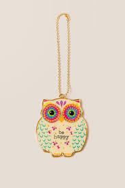 glitter car be happy owl glitter car charm francesca u0027s