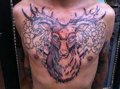 chest deer abstract design idea for and