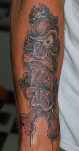 pirate skull with treasure map tattoo tattooimages biz