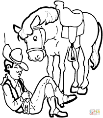 cowboy horse coloring free printable coloring pages