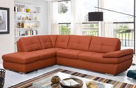 orange leather sectional sofa salzburg orange leather sectional sofa w chaise casa eleganza in