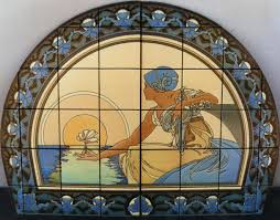 an art nouveau inspired cuerda seca tile mural artists that an art nouveau inspired cuerda seca tile mural