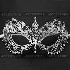 charming princess venetian masquerade mask with diamonds silver