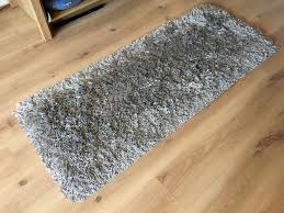 ikea gaser high pile dark grey runner rug in littleover