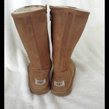 ugg s zip boots 86 ugg boots zip up uggs in chestnut from shelayne s closet