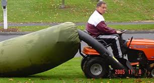 amazon com lawn tractor leaf bag never rake again lawn and