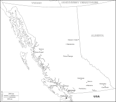 Blank Map Of Bc by British Columbia Free Map Free Blank Map Free Outline Map Free