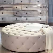 Circle Ottomans Tufted Ottomans Foter