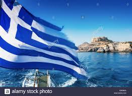 Greek Flag Background Acropolis Flag Of Greece Greek Flag Tourism Stock Photos
