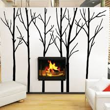 cozy homy winter tree wall decal forest vinyl wall art graphics cozy homy winter tree wall decal forest vinyl wall art graphics family living room decoration large black in wall stickers from home garden on