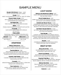 sample menu sample menu cornell cooperative extension sample