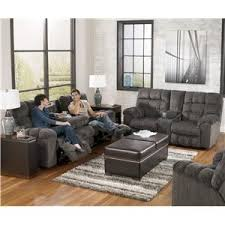 signature design by ashley acieona slate reclining sofa with