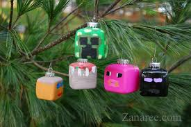 so minecraft ornaments for your tree that your can make