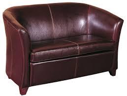 petit canapé en croûte de cuir de vachette petit canapé