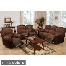 Leather Reclining Living Room Sets Rouen Bonded Leather Recliner Motion Living Room Set Free
