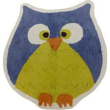Purple Owl Rug Mainstays Whooty Hoot Decorative Bath Collection Bath Rug