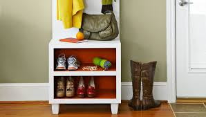 coat rack bench in vitality and glamour combination home