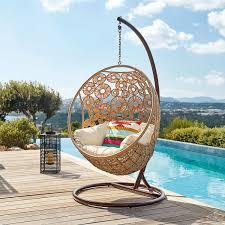 siege suspendu jardin gifi chaise jardin fauteuil suspendu de jardin en resine tressee et