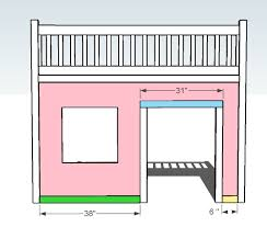 Free Loft Bed Woodworking Plans by Ana White Playhouse Loft Bed Diy Projects
