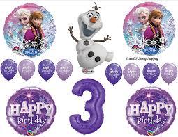 frozen balloons frozen olaf purple 3rd disney birthday party