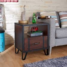 antique nightstands and bedside tables sturdy teak wood vintage nightstand designs featuring open shelf and