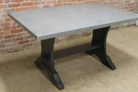 pure zinc table with painted base ecustomfinishes