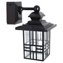 outdoor light fixture with built in outlet led wall lantern with gfci outlet rona