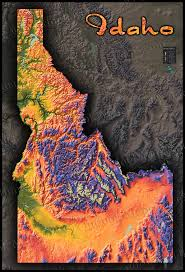 Topographic Map Of Utah by Colorful Idaho Map Physical Topography Of Rocky Mountains
