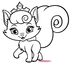 princess cat coloring pages coloring