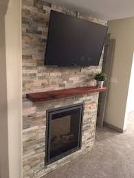 Fireplace Wall Tile by Diy Stone Fireplace With Airstone Airstone Dark Colors And Dark