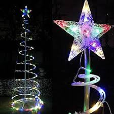 Outdoor Lighted Christmas Decorations Amazon by Amazon Com 6 U0027 Blue Led Light Show Cone Christmas Tree Lighted