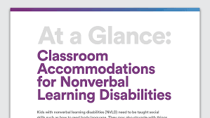Smart Goals Worksheet For Kids Accommodations For Kids With Nonverbal Learning Disability
