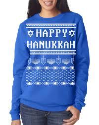 happy hanukkah sweater hanukkah women s sweatshirt sweater