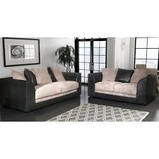Black And Grey Sofa Set Cheap Sofa Uk Jackson Fabric Sofa Set Black U0026 Grey Sale On
