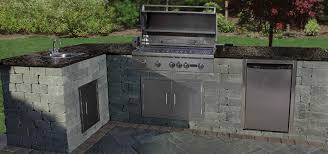 L Shaped Outdoor Kitchen by Cambridge Pavingstones Cambridge Outdoor Kitchen Kit