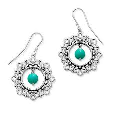 garland ear hooks with turquoise avery