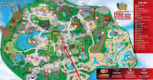 Six Flags America Map by Max Chen