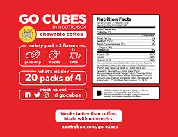 amazon com go cubes energy chews assorted coffee flavors 4