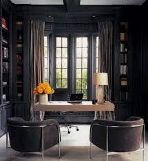 Masculine Curtains Decor Bookshelves Fashion Captivating Home Office Design Ideas