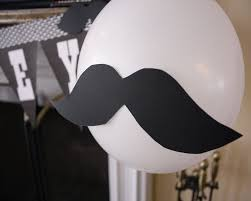 large mustache balloon baby shower decoration ideas mustache