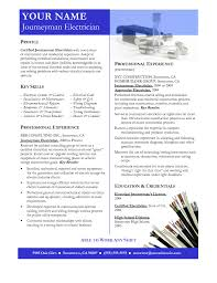 Resume Sample Electrician by Electrician Resume Free Resume Example And Writing Download
