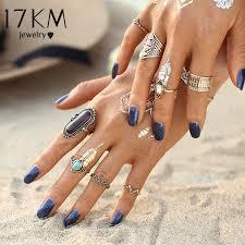 midi ring set 17km boho jewelry midi ring sets for women anel vintage